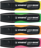 Överst Stabilo Green Boss 4set