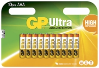 Batteri GP Ultra AAA/LR03 10/f