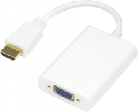 Adapter HDMI - VGA/ljud 0,2m